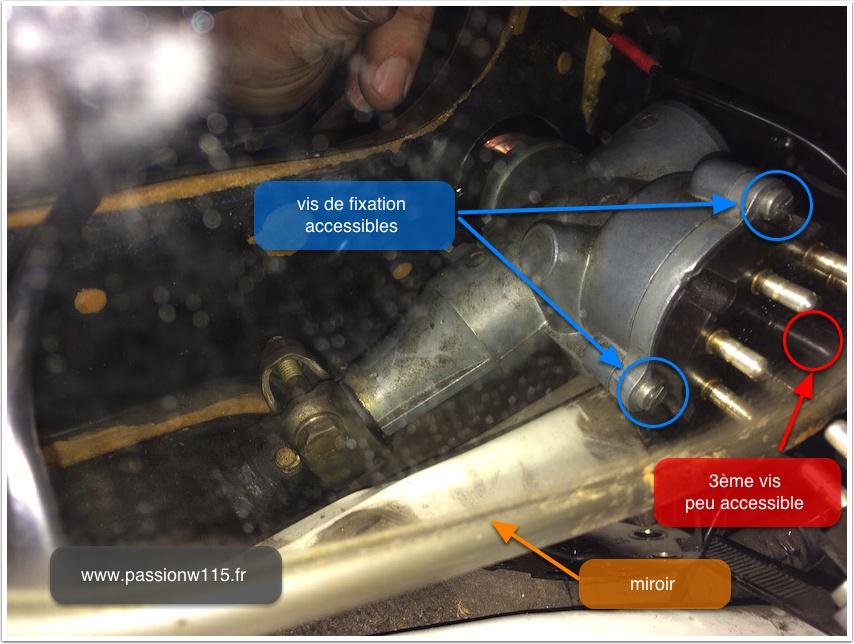 Remplacement du contacteur d'allumage - Mercedes 200 /8 W115 1972 www.passionw115.fr