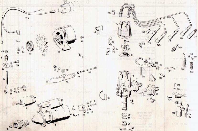 Livres des listes de pièces de rechange - Mercedes 200 /8 W115 1972 www.passionw115.fr