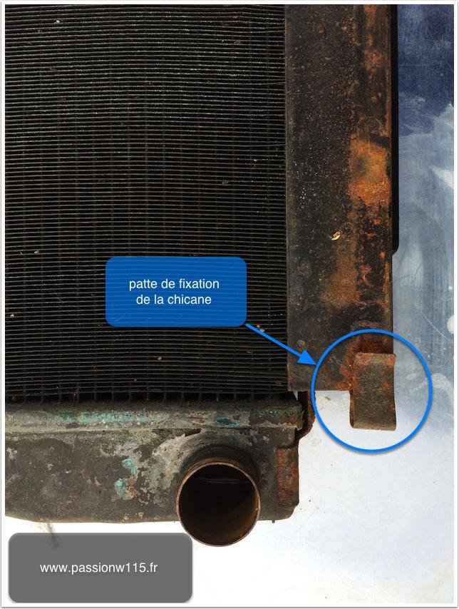 Rénovation radiateur Mercedes 200 /8 W115 1972 www.passionw115.fr