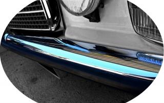 Mercedes-Benz - Mercedes 200 /8 W115 1972 www.passionw115.fr Chrome Pare-choc