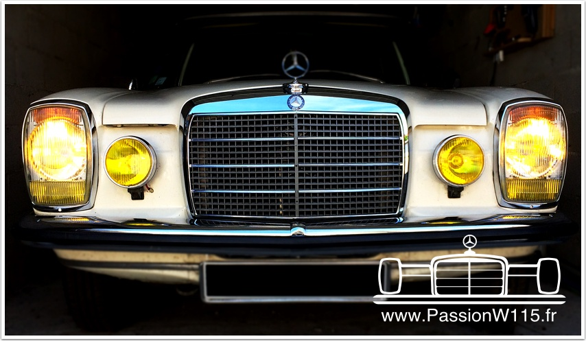 Mercedes-Benz - Mercedes 200 /8 W115 1972 www.passionw115.fr Phares