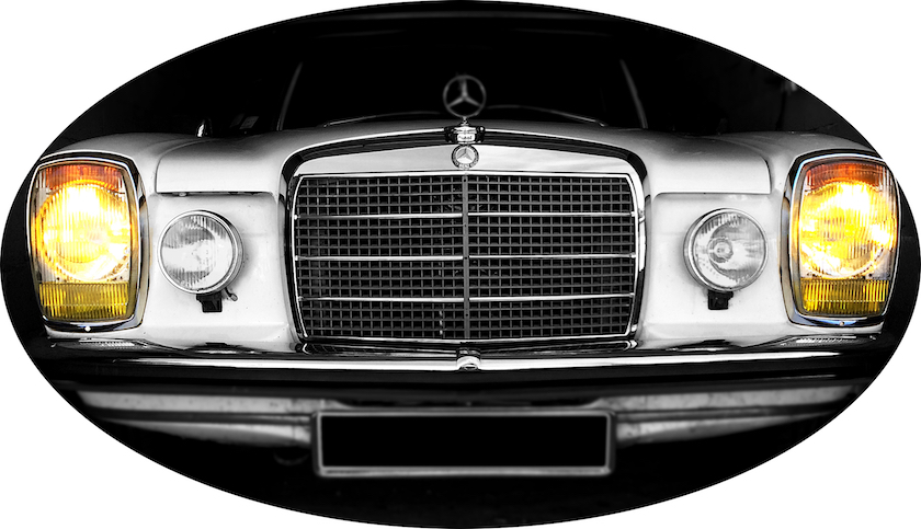 Mercedes-Benz - Mercedes 200 /8 W115 1972 www.passionw115.fr Phares avant
